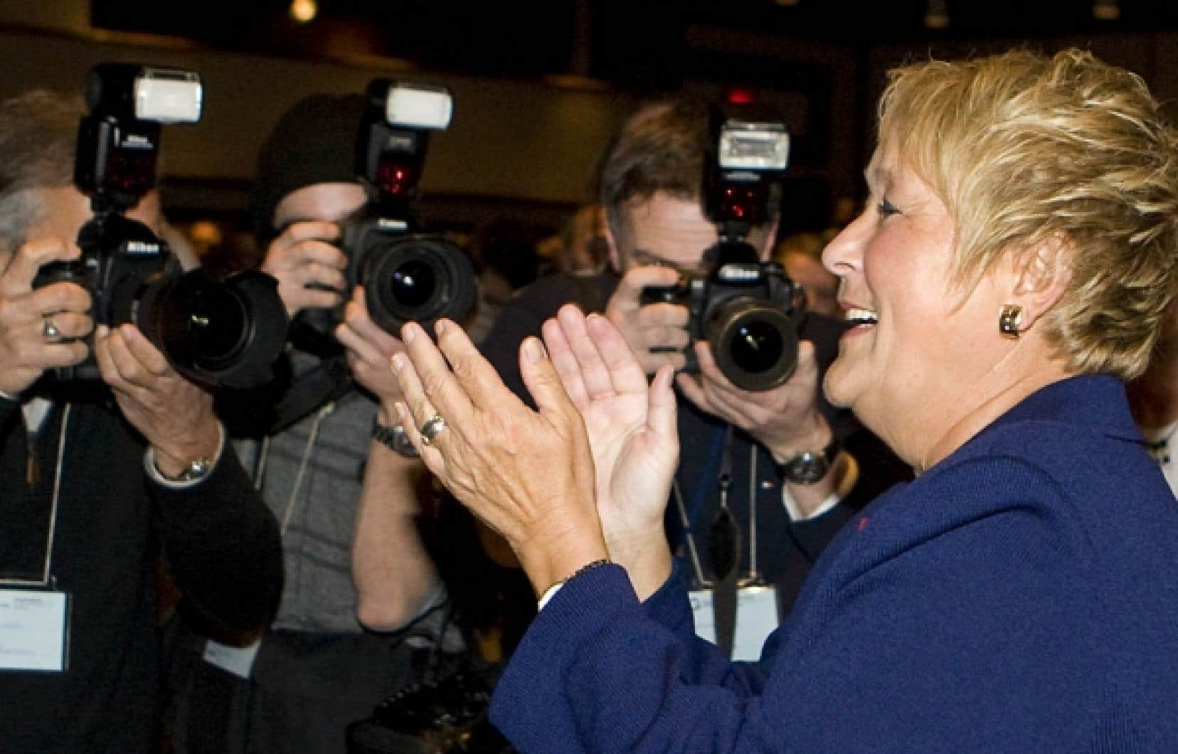 Les turbulences provoquées par la possibilité d'un retour de Gilles Duceppe en politique n'ont pas nui à Pauline Marois.