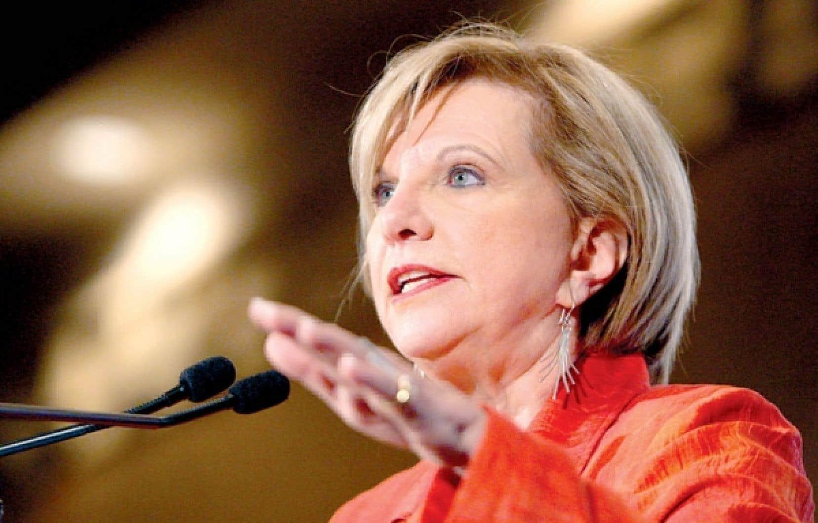 Monique Jérôme-Forget était présidente du Conseil du trésor lors de ces négociations.<br />