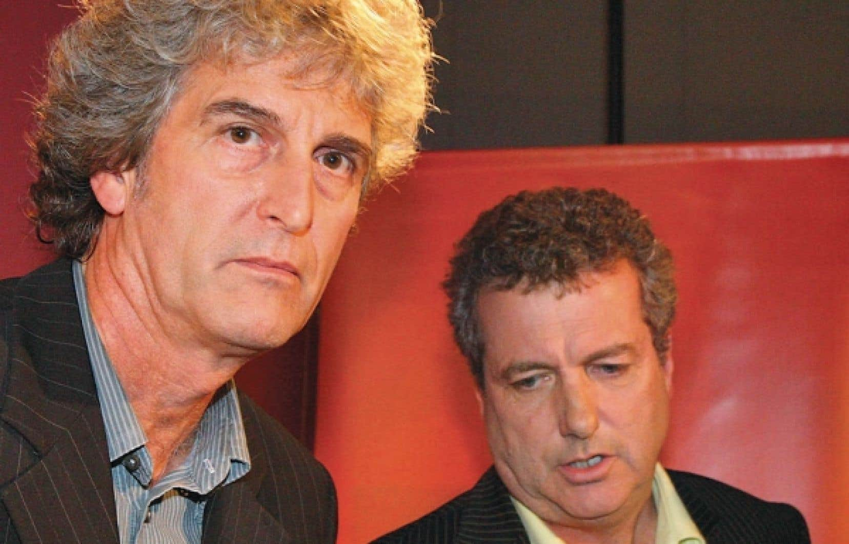 Alain Saulnier (à gauche)<br />