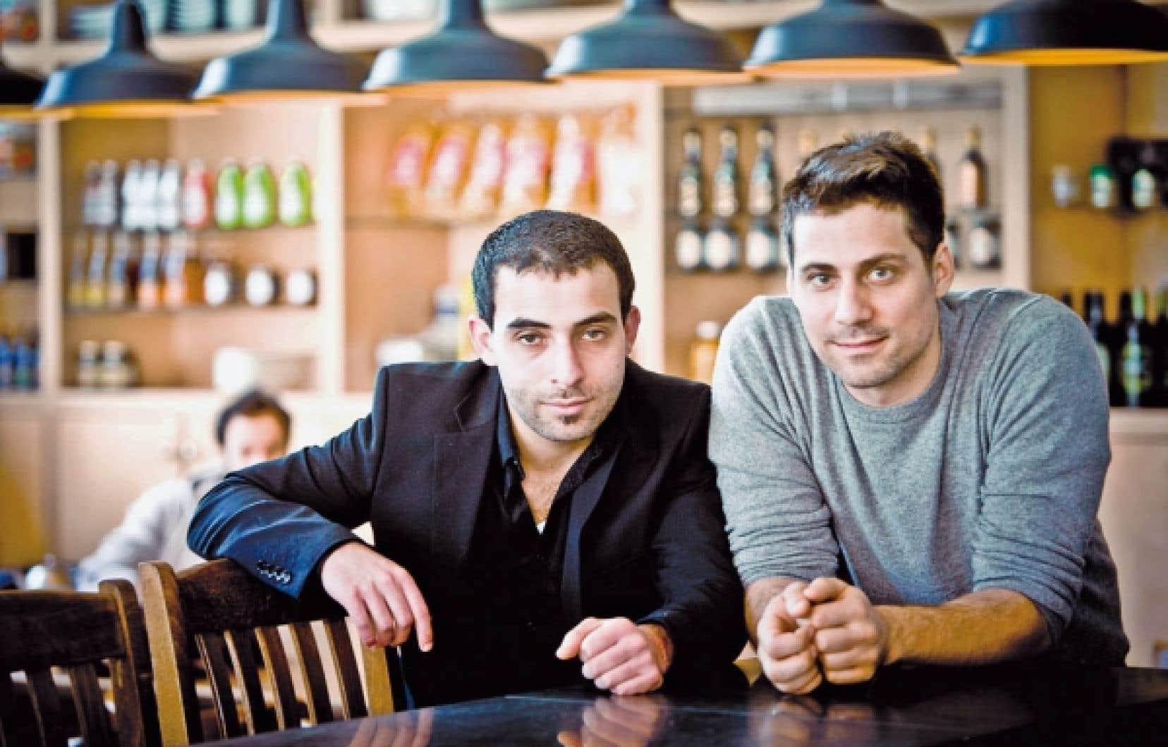 L'acteur principal de Roméo Onze, Ali Ammar, accompagné du réalisateur, Ivan Grbovic.