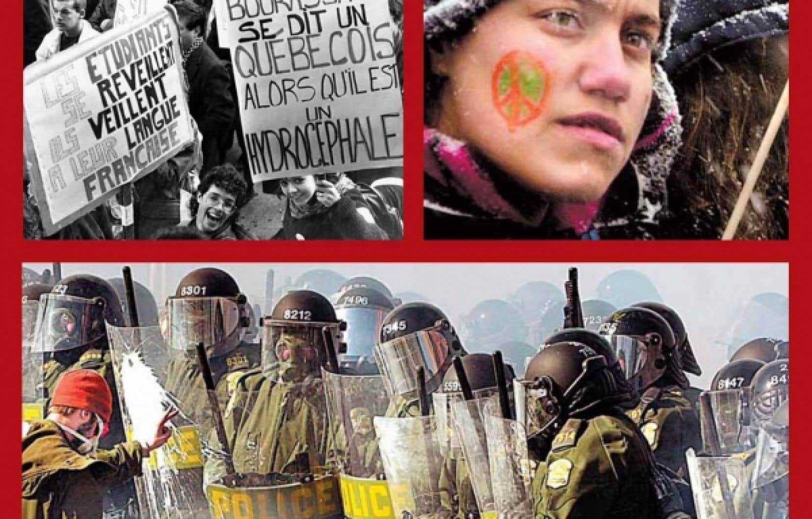 Une manifestation pour appuyer la loi 101 attire 60 000 en 1989. 200 000 personnes ont manifesté à Montréal contre la guerre en Irak le 15 mars 2003. On a compté entre 50 000 et 65 000 manifestants au Sommet des Amériques, à Québec en 2001.