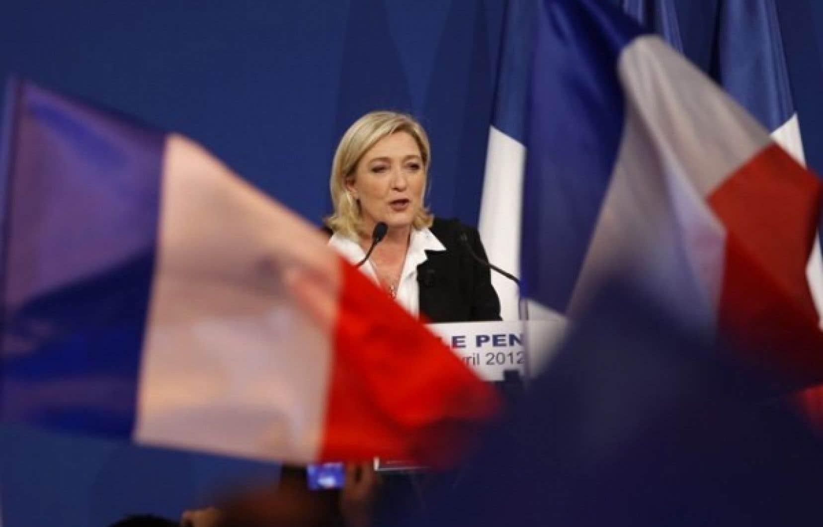 Le Front national de Marine Le Pen a récolté 17,9 % des voix lors du premier tour présidentiel.