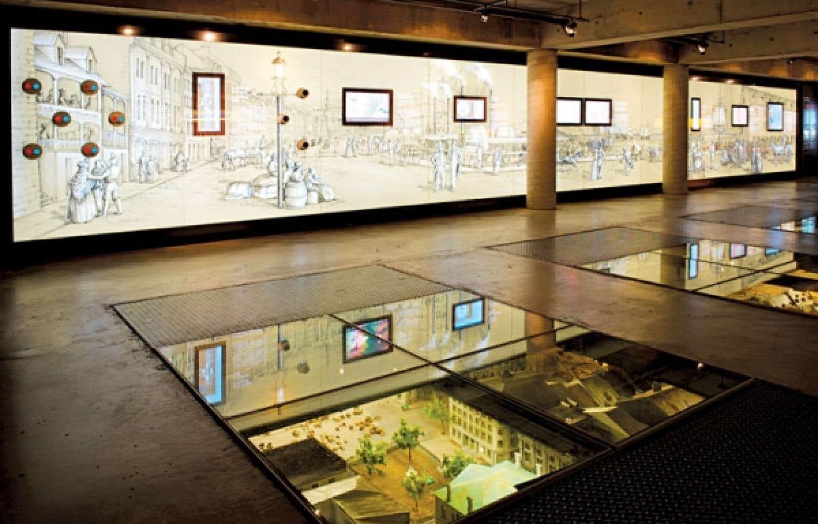 L'exposition Ici naquit Montréal au Musée d'archéologie et d'histoire de Montréal Pointe-à-Callières