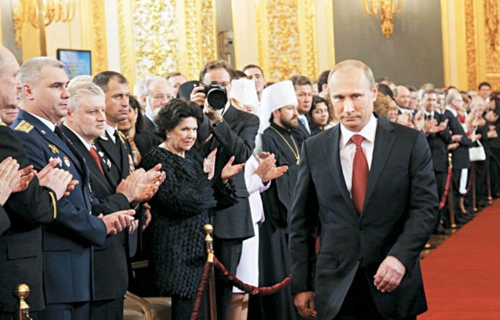 Vladimir Poutine hier, lors de son intronisation.