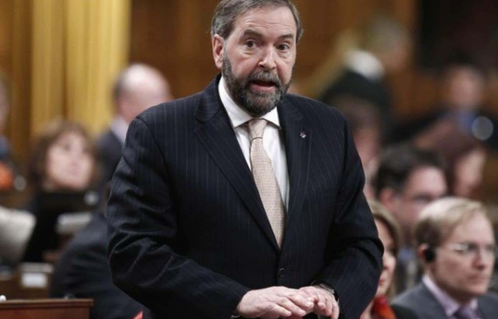 Thomas Mulcair estime que le Canada est affecté par le syndrome hollandais.