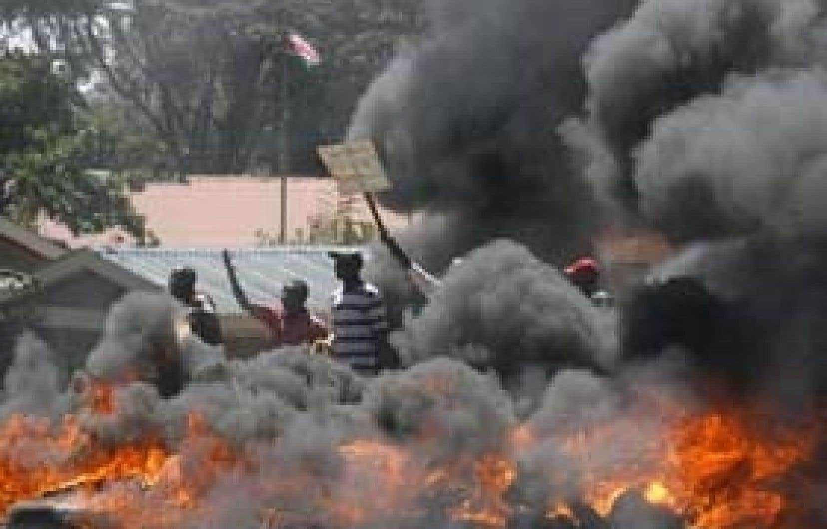 La police a dispersé hier une manifestation dans la capitale kényane.
