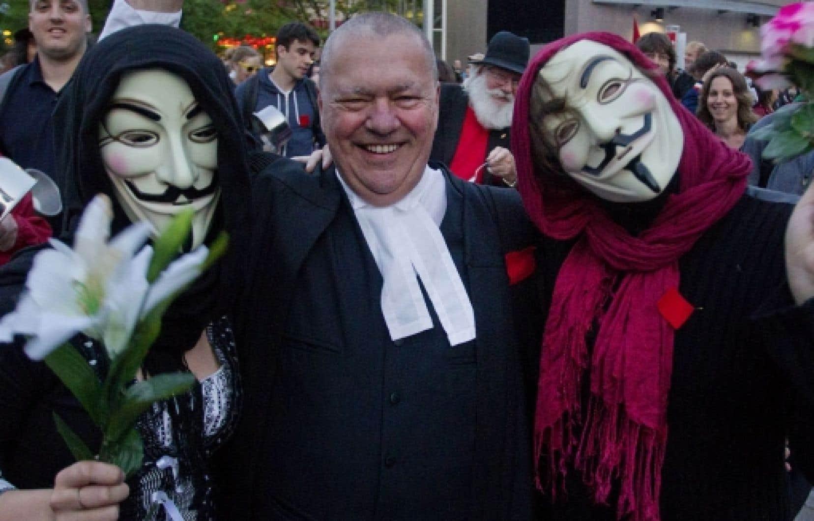 Des centaines de juristes ont pris la rue lundi dernier pour dénoncer la loi 78.