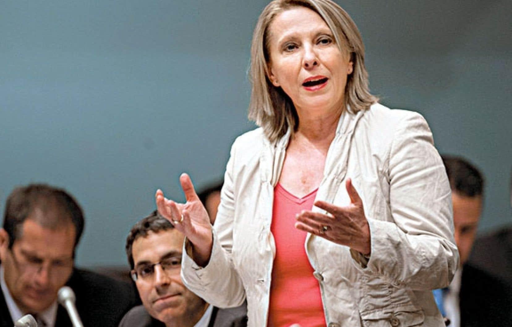 La ministre Christine St-Pierre