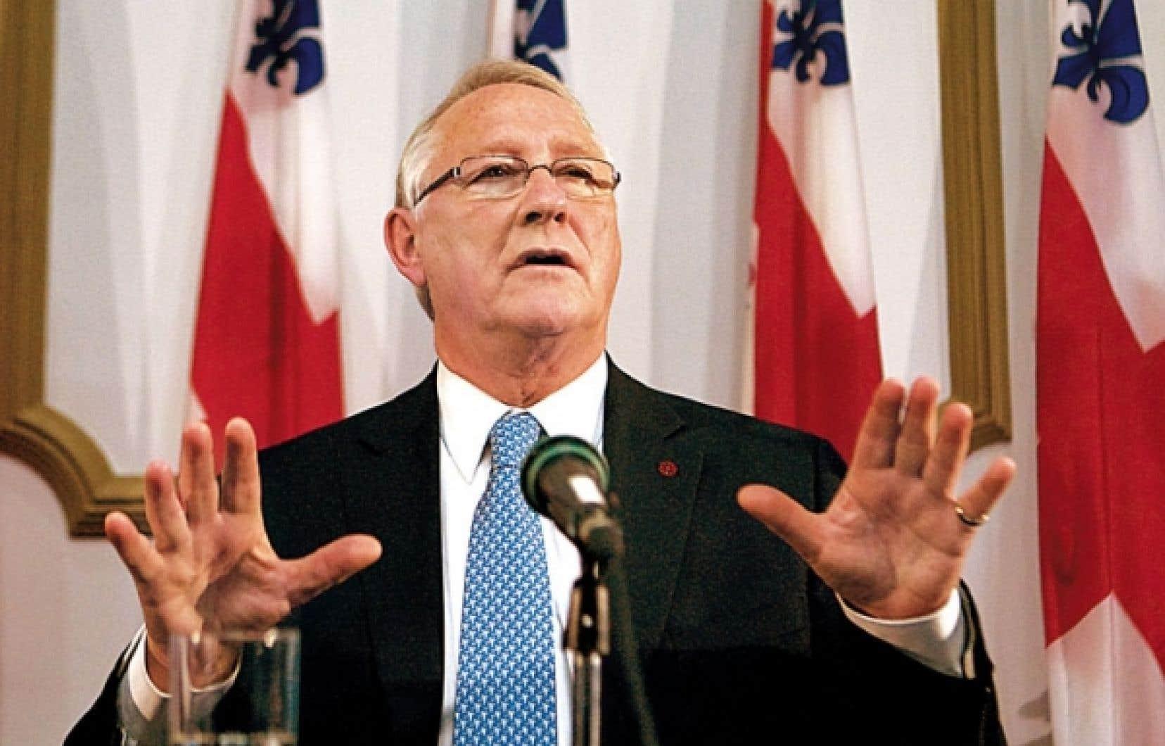 Gérald Tremblay a réitéré la position de son administration qui s'est opposée à la proposition de Réal Ménard d'utiliser une cour de voirie pour accueillir les prostituées.