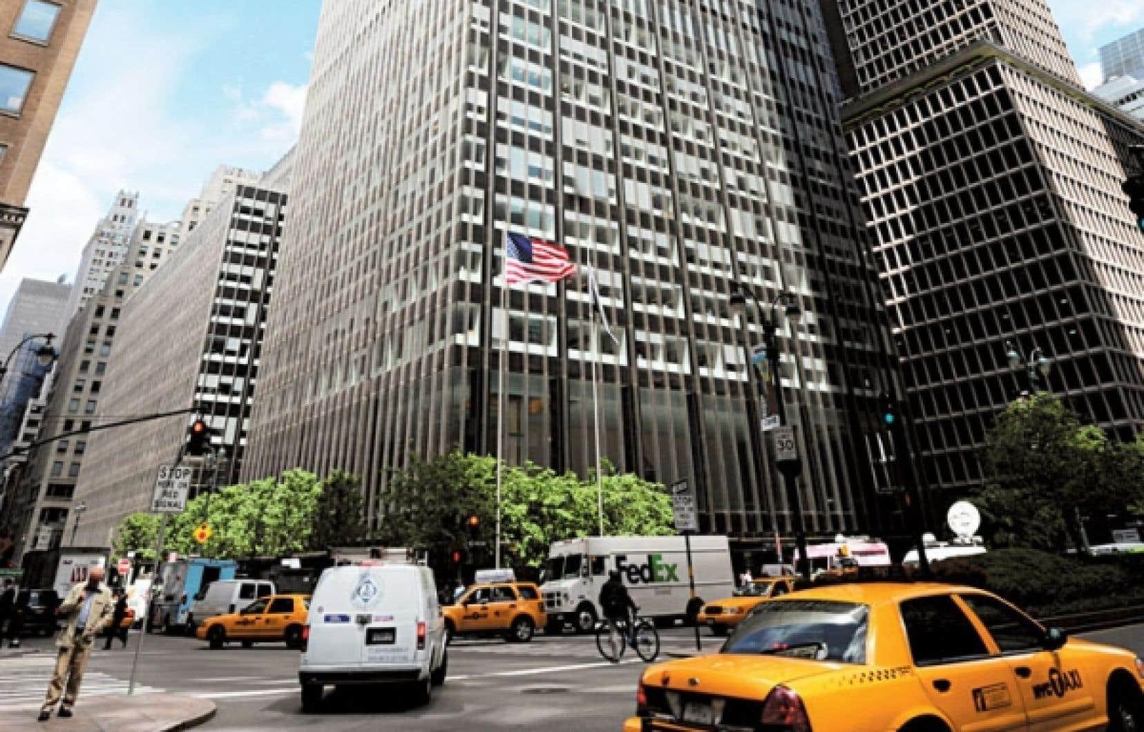 Le siège social de la banque américaine JP Morgan Chase, à New York, qui avait révélé une perte-surprise de 2 milliards au printemps dernier.