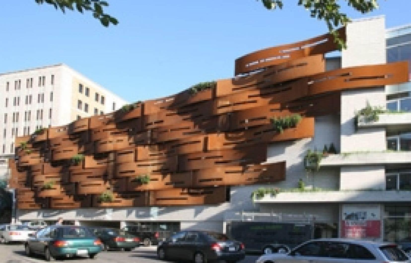 Photo: Yvan Binet Le projet de La Falaise apprivoisée avait provoqué de vives critiques lors de son inauguration. Un an plus tard, une fois la poussière retombée, le projet reçoit le Prix du public.