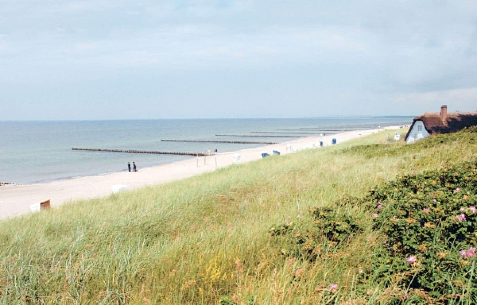 Une plage d'Ahrenshoop, dans le nord de l'Allemagne, une région encore méconnue des touristes étrangers.