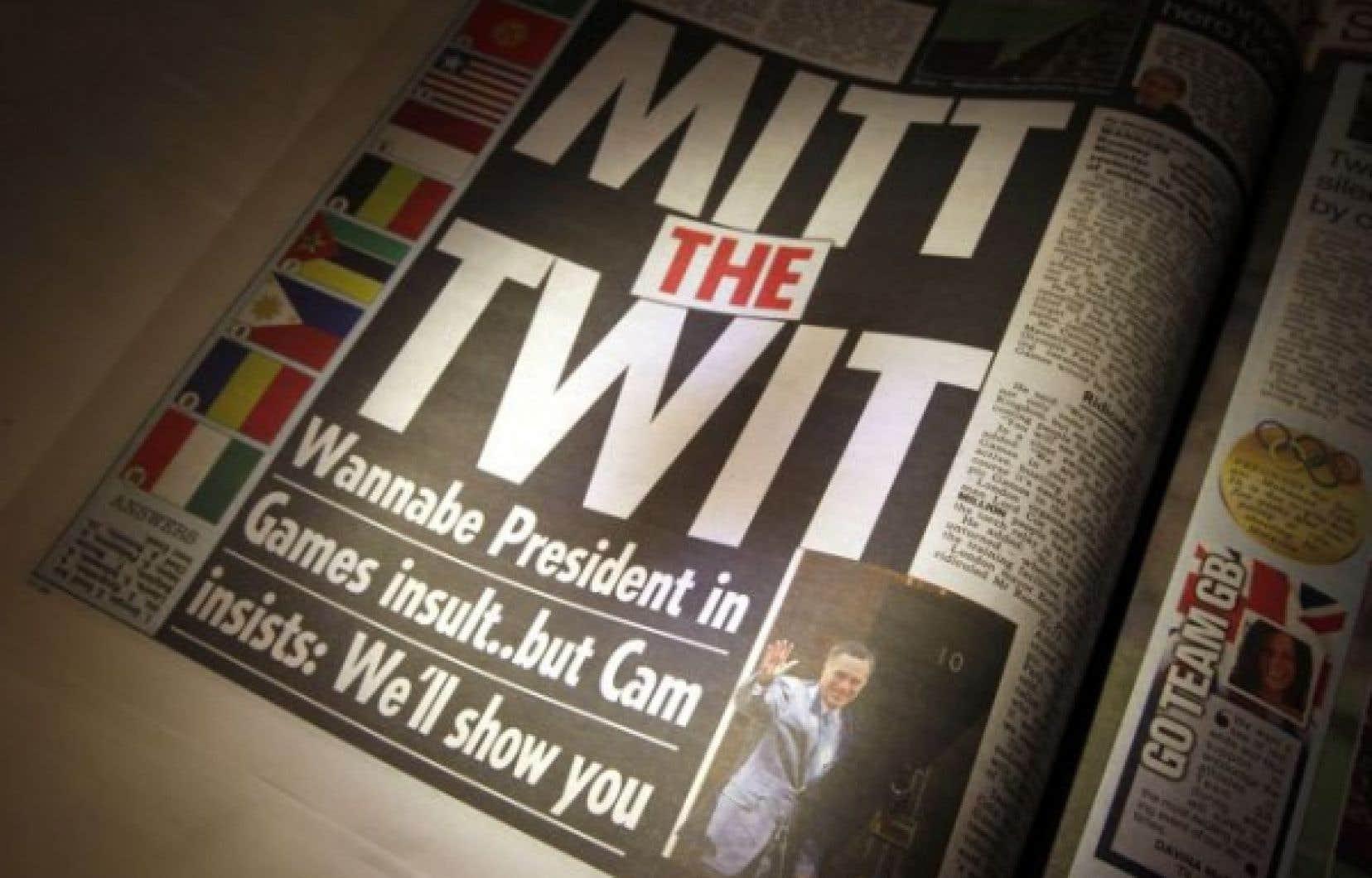 «Mitt the twit» (Mitt l'idiot), titrait le tabloïd The Sun.