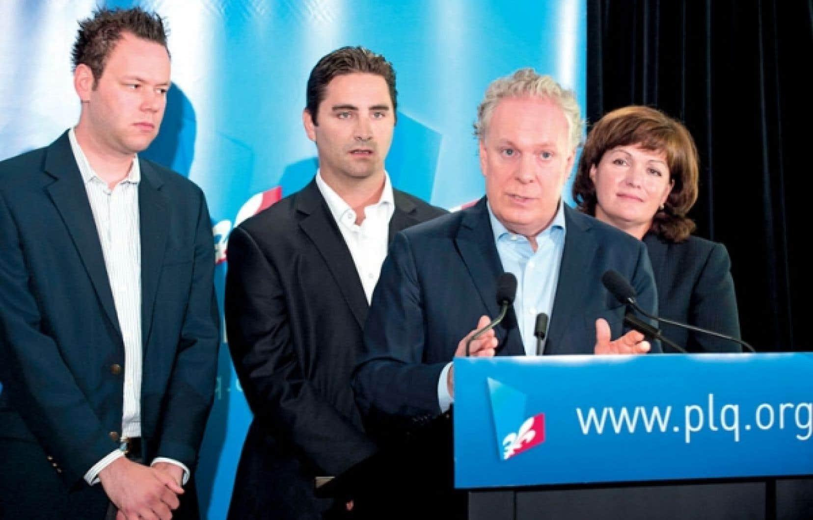 Les nouveaux candidats de Jean Charest, soit Pascal Beaupré, (Joliette), Jean-Francois Gosselin (La Peltrie) et Linda Lapointe (Groulx).