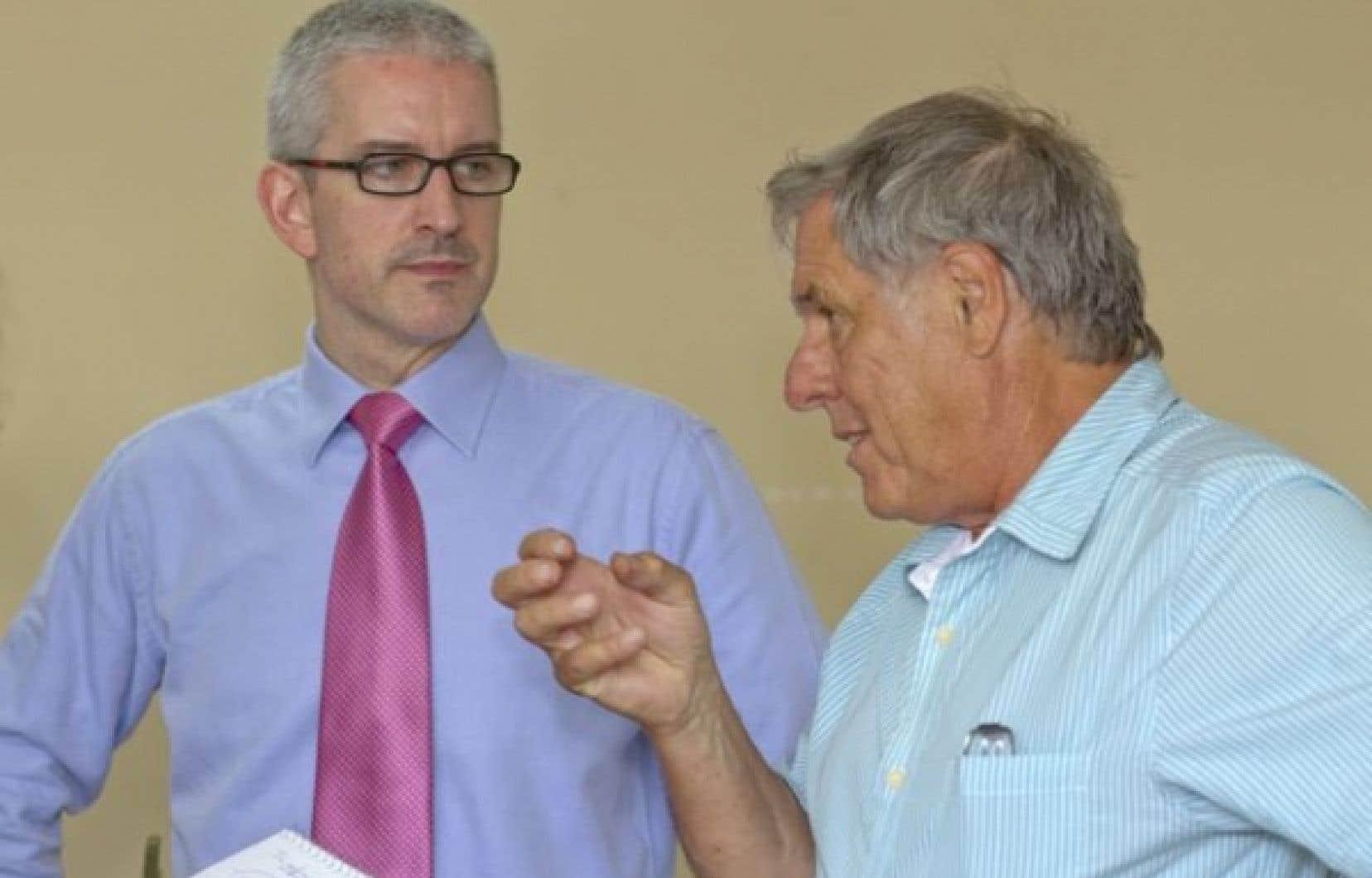Jean-Martin Aussant et Pierre Curzi<br />