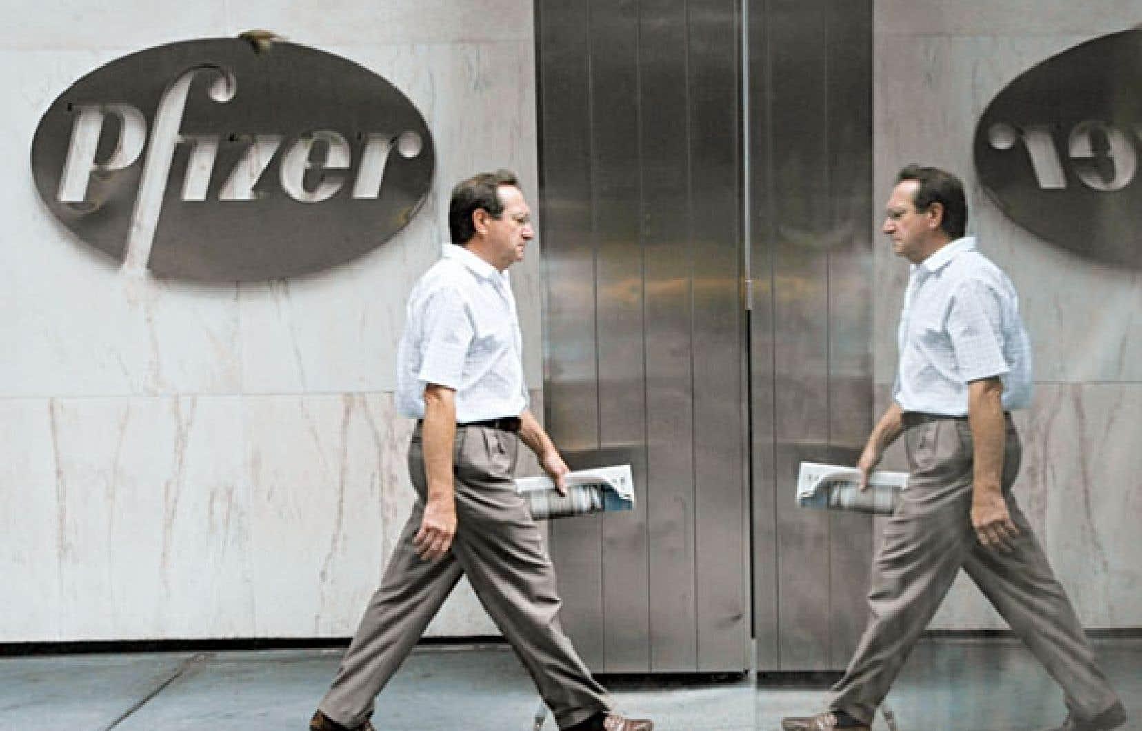 Le siège social de Pfizer à New York