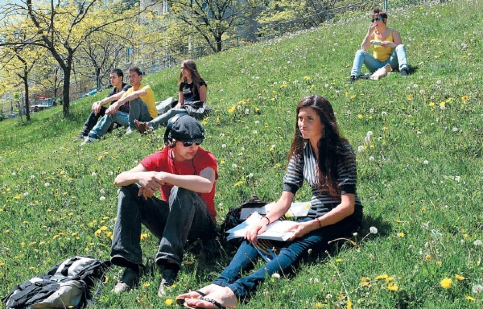 Contrairement à leurs confrères des cégeps francophones (notre photo), plus de la moitié des étudiants diplômés des établissements anglophones de Montréal n'ont pas le niveau nécessaire en français dans un contexte de travail, tant à l'oral qu'à l'écrit.