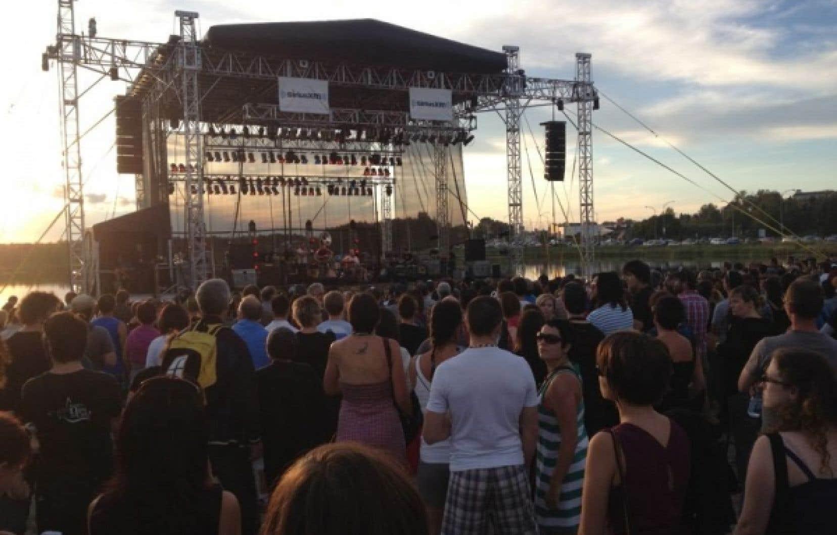 L'une des scènes du festival.