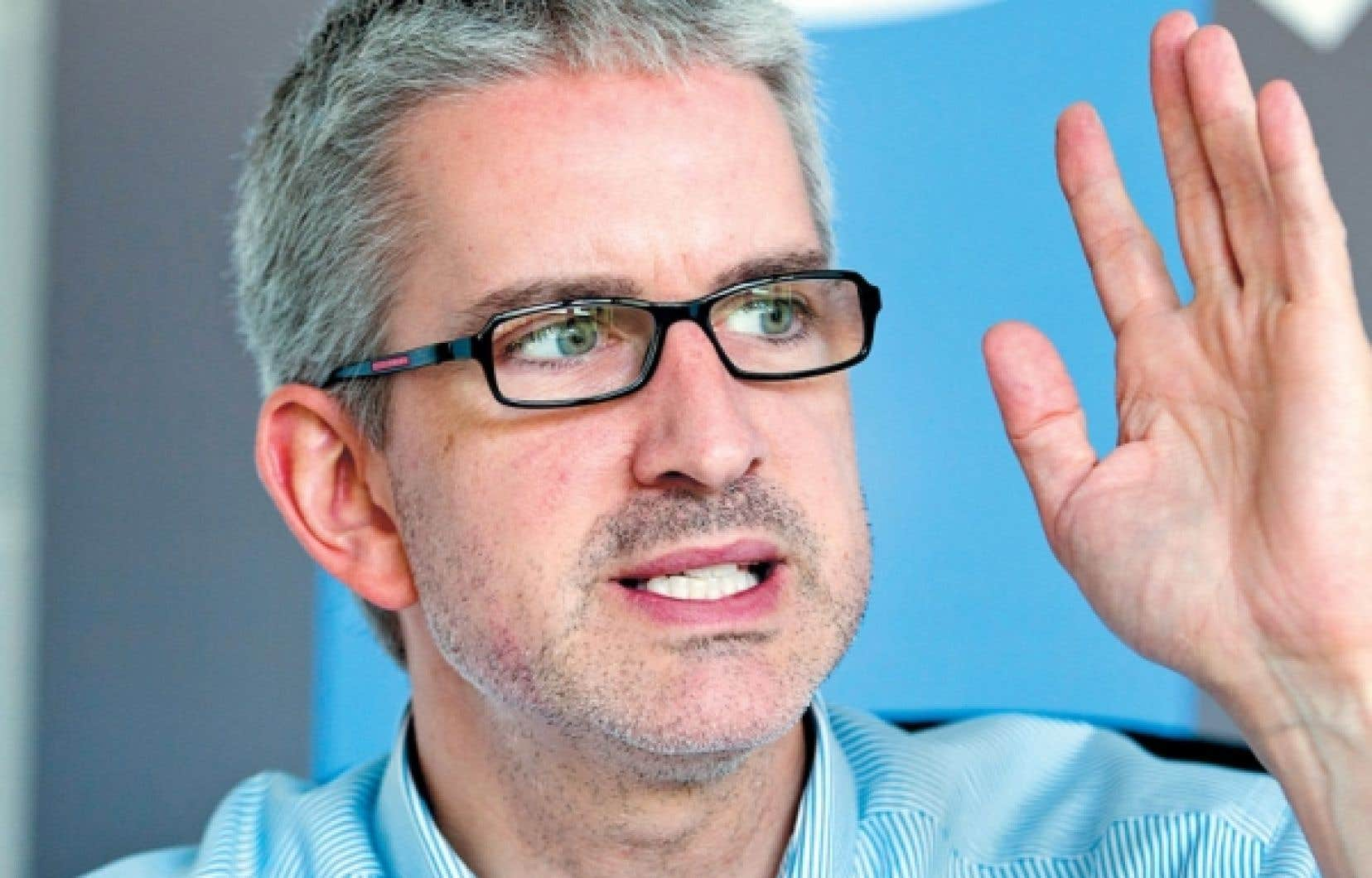 Le chef d'Option nationale, Jean-Martin Aussant