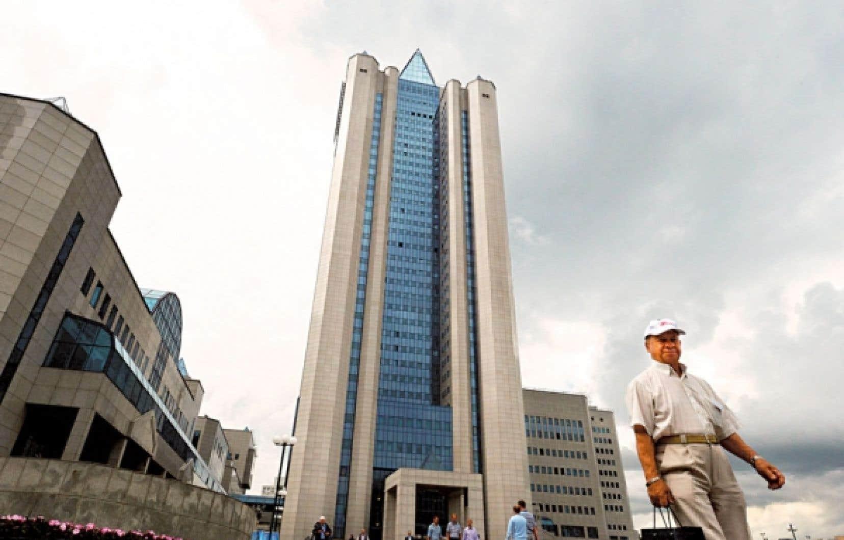 Le siège de Gazprom, à Moscou