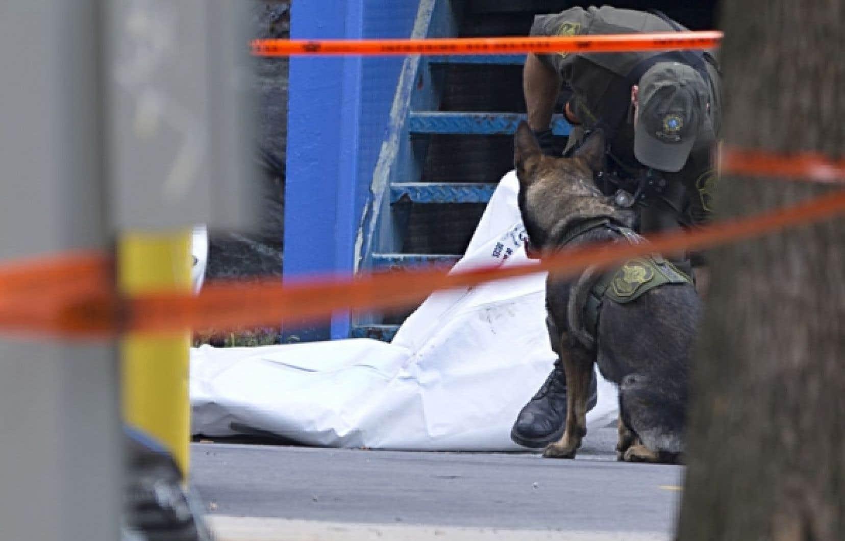 Les policiers ont dressé un périmètre de sécurité sur les lieux de l'incident au cours duquel un homme d'une quarantaine d'années est décédé. Richard Henry Bain devrait également être interrogé, alors que le mobile de ce geste n'a pas encore été établi par les policiers.