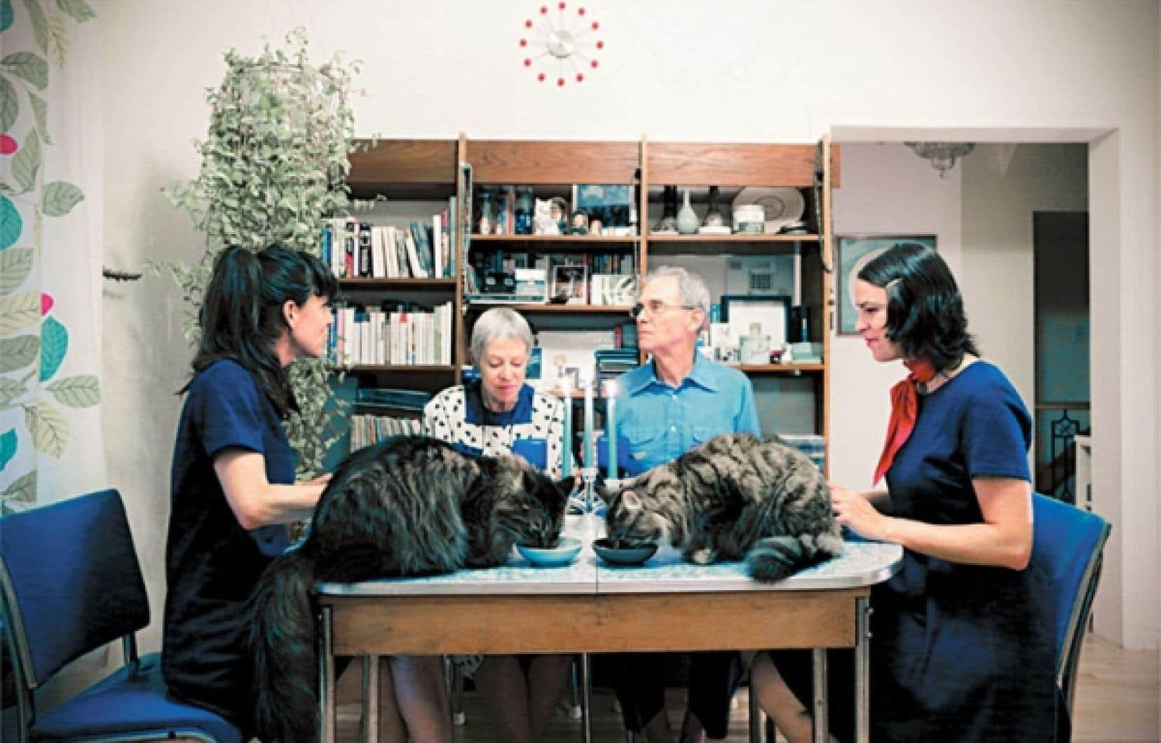 À mon dernier repas, je veux voir mes chats, 2012, de Sandra Lachance.