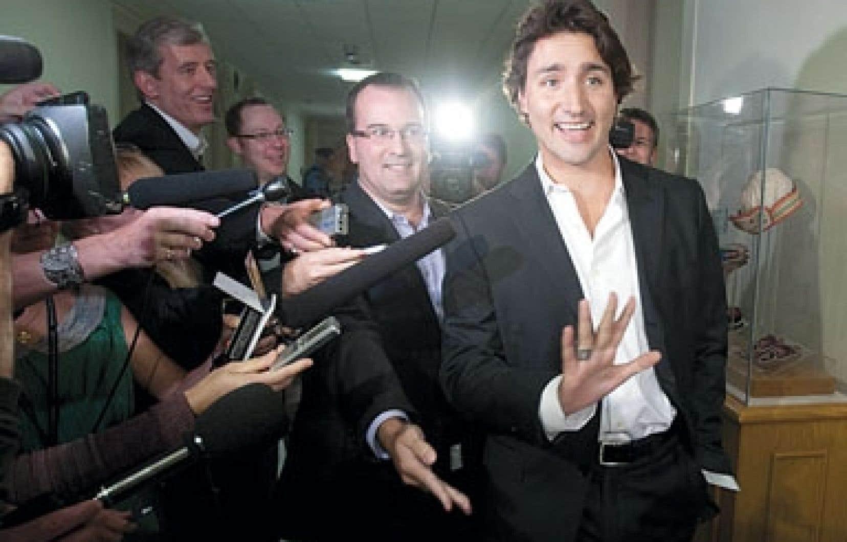 <div> Justin Trudeau s'est adressé brièvement aux médias mercredi avant de prendre part au caucus libéral.</div>
