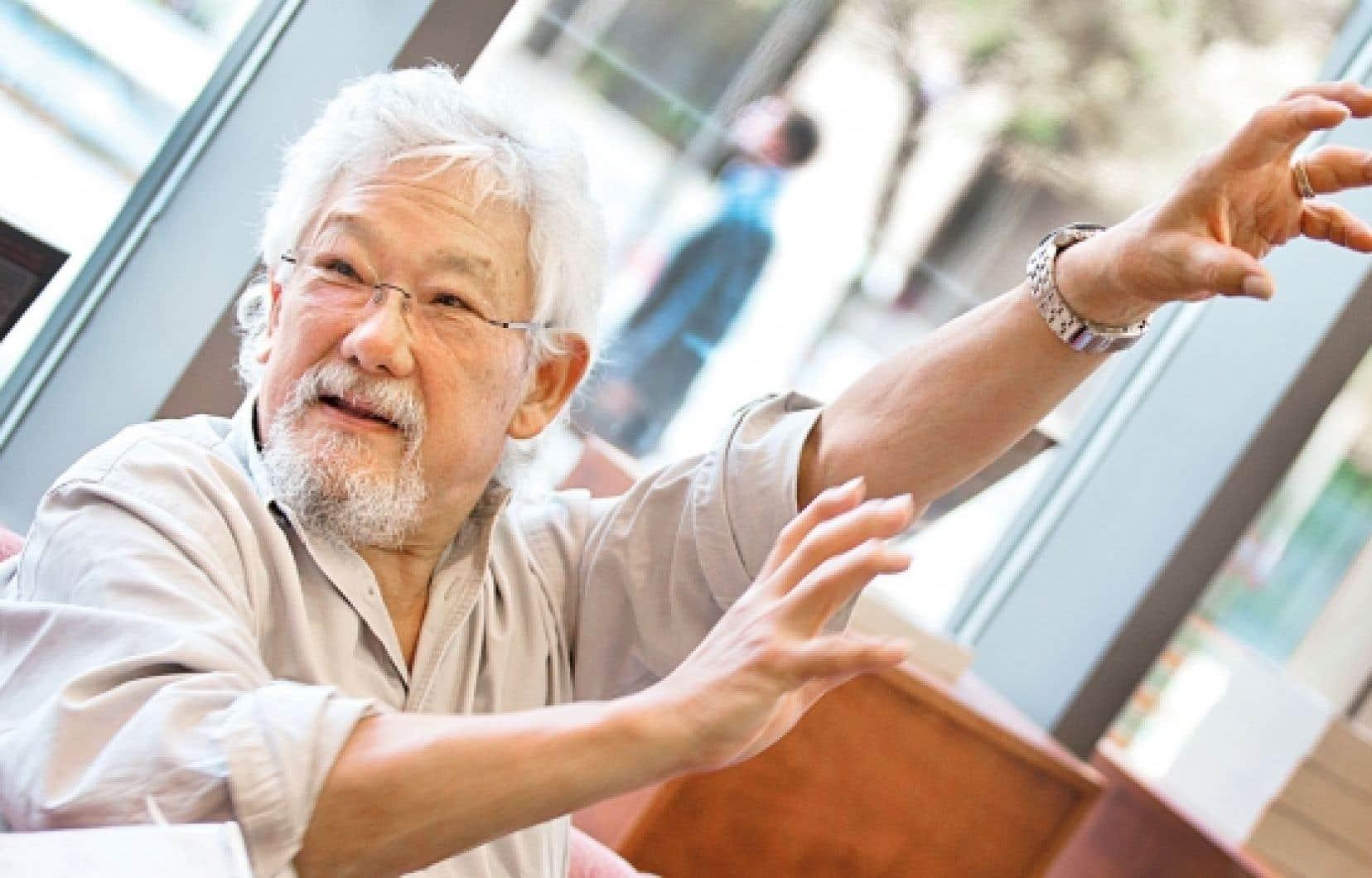 David Suzuki lors de son entretien avec Le Devoir, lundi : « Les politiciens voient le monde comme s'il s'agissait de compartiments séparés. »