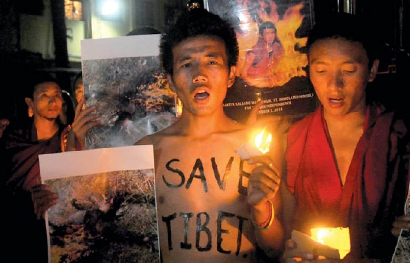 <div> Vigile chez les Tibétains exilés en Inde</div>