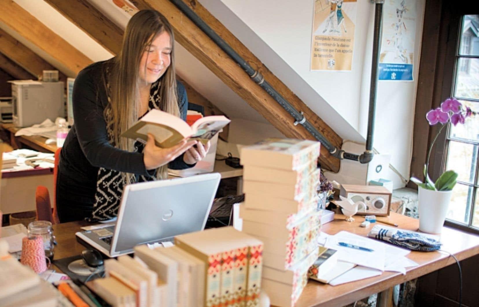 Mélanie Vincelette, éditrice de la maison Marchand de feuilles, aux ouvrages toujours ciselés.