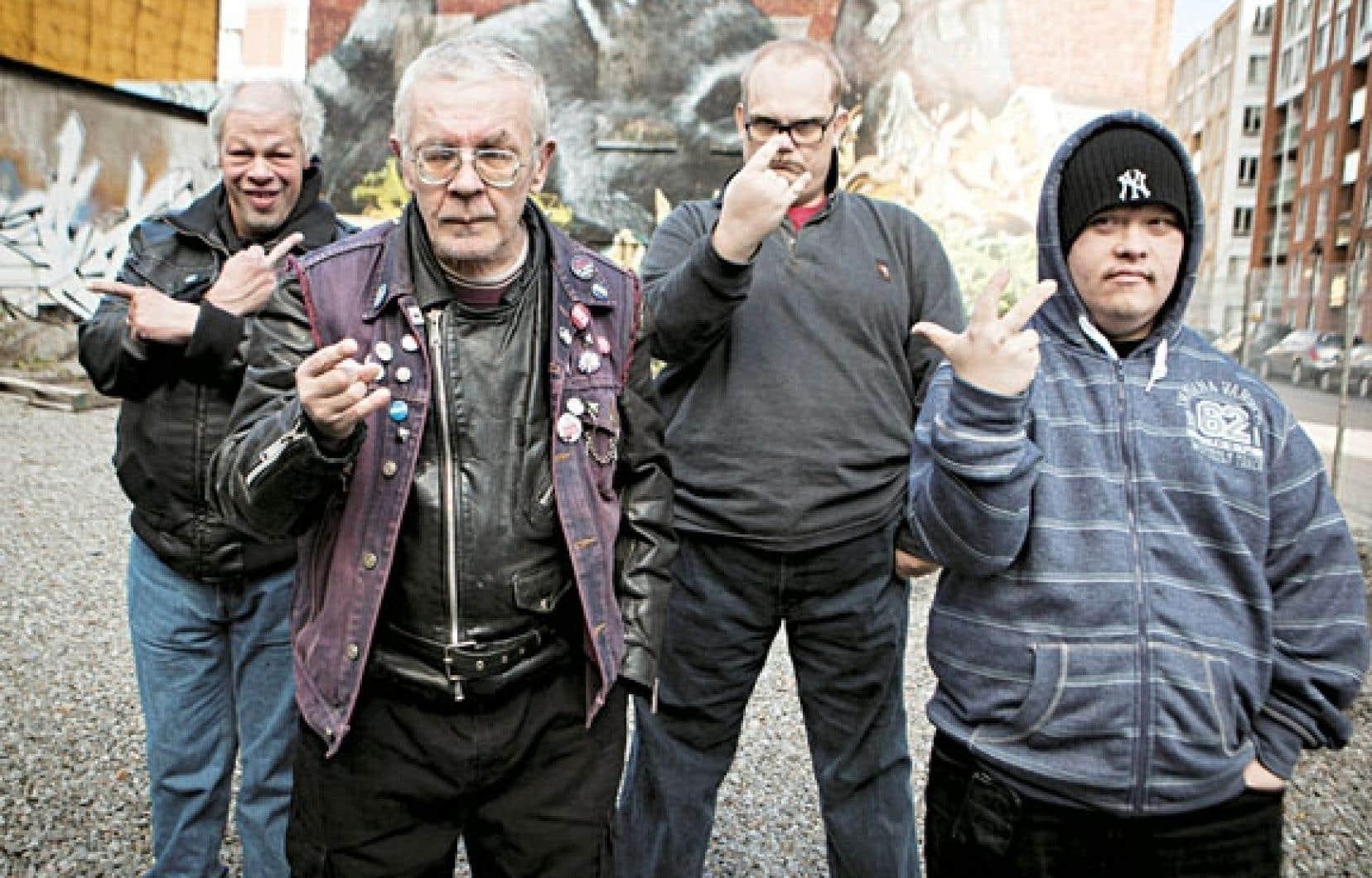 Les membres du groupe punk Pertti Kurikan Nimipäivät, à voir en documentaire et sur scène à la Cinémathèque québécoise