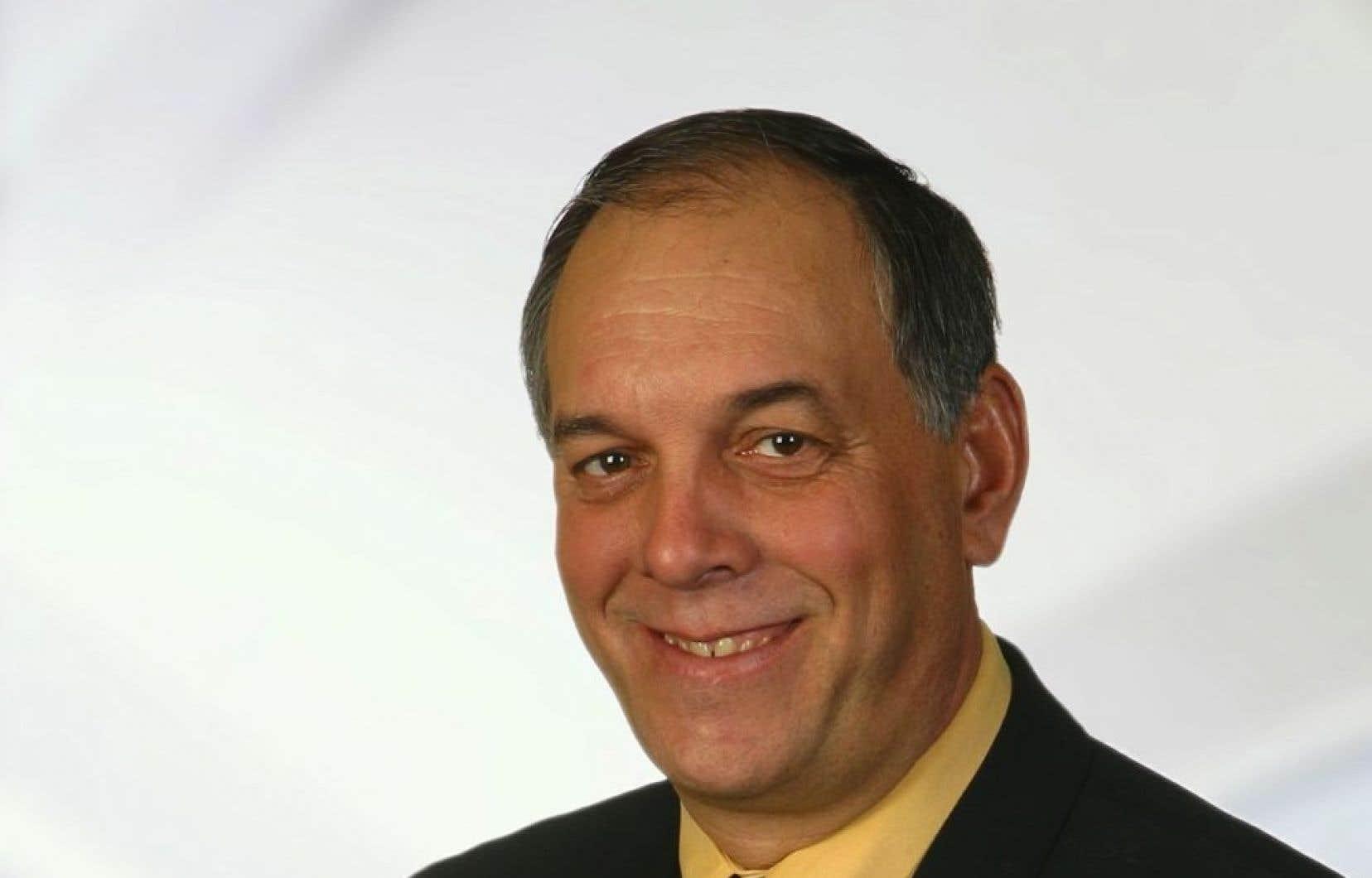 Le maire de Saint-Rémi,Michel Lavoie, en 2003.<br />