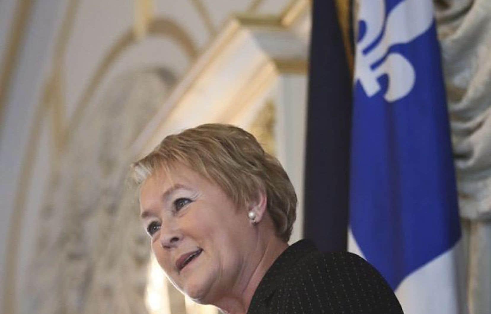 Pauline Marois fêtait à New York les 100 jours de son gouvernement.