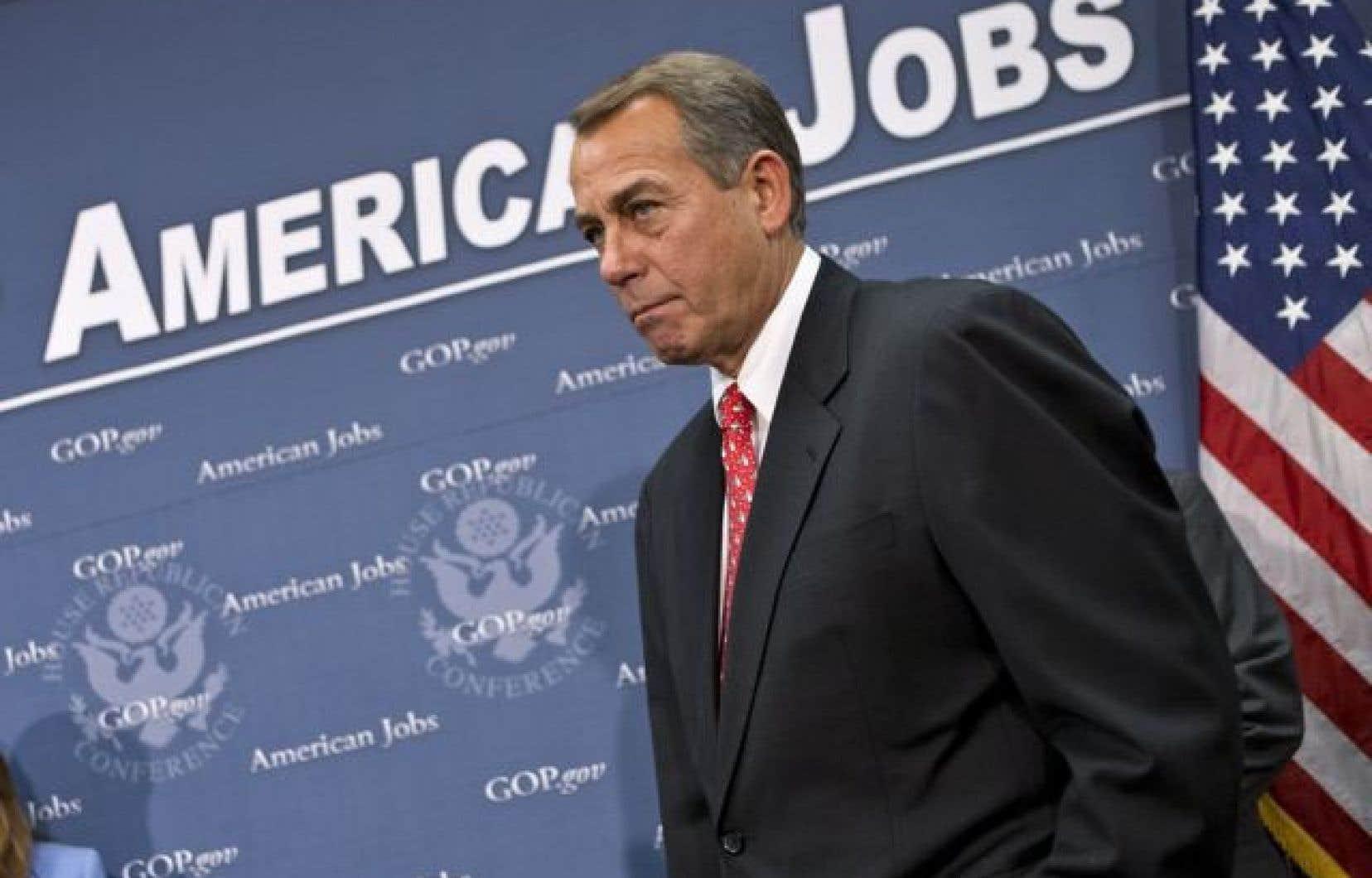 <div> Le président de la Chambre des représentants, le républicain John Boehner</div>