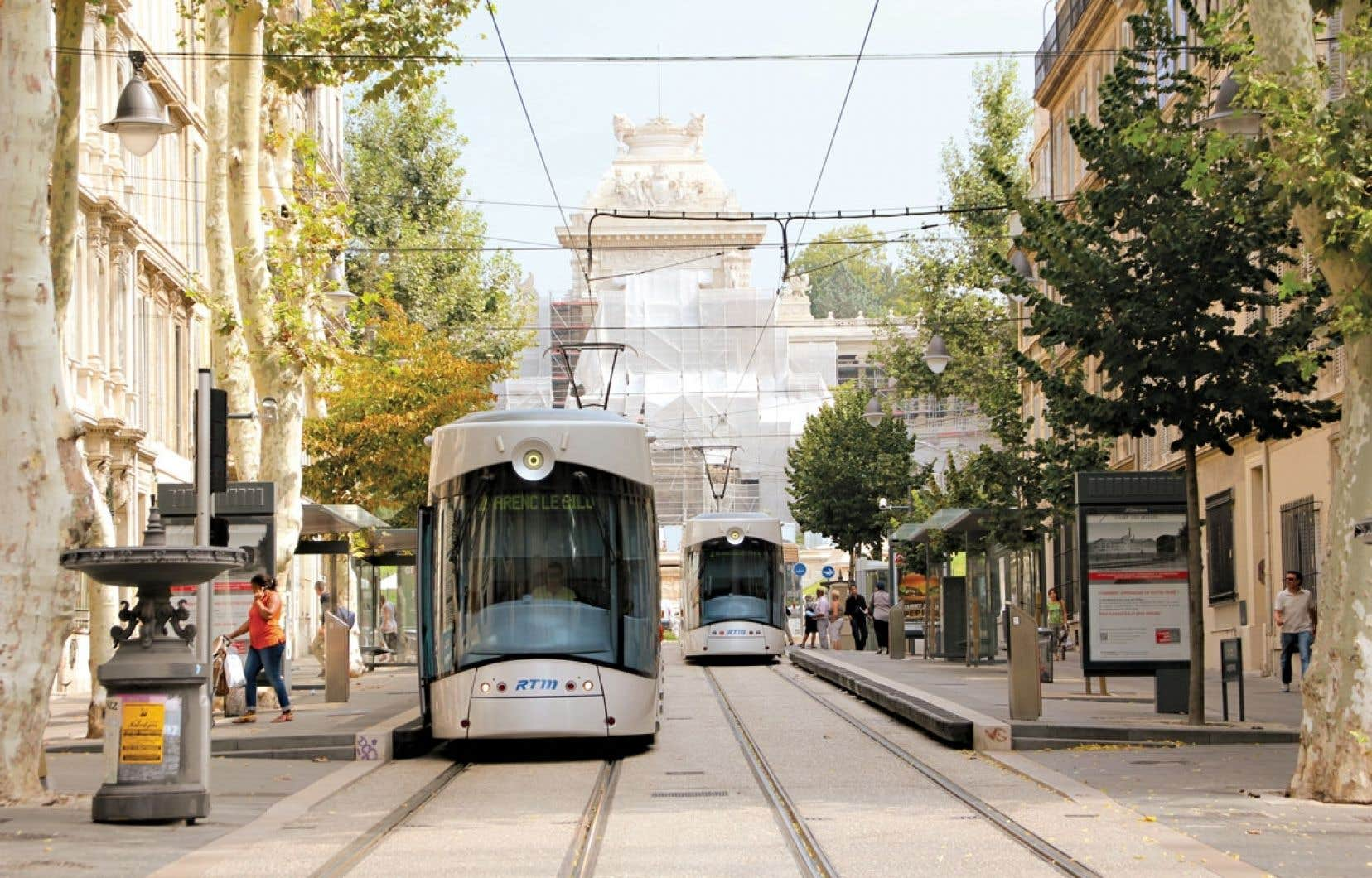 La modernisation du réseau de transports urbains : un important volet de la métamorphose de Marseille.