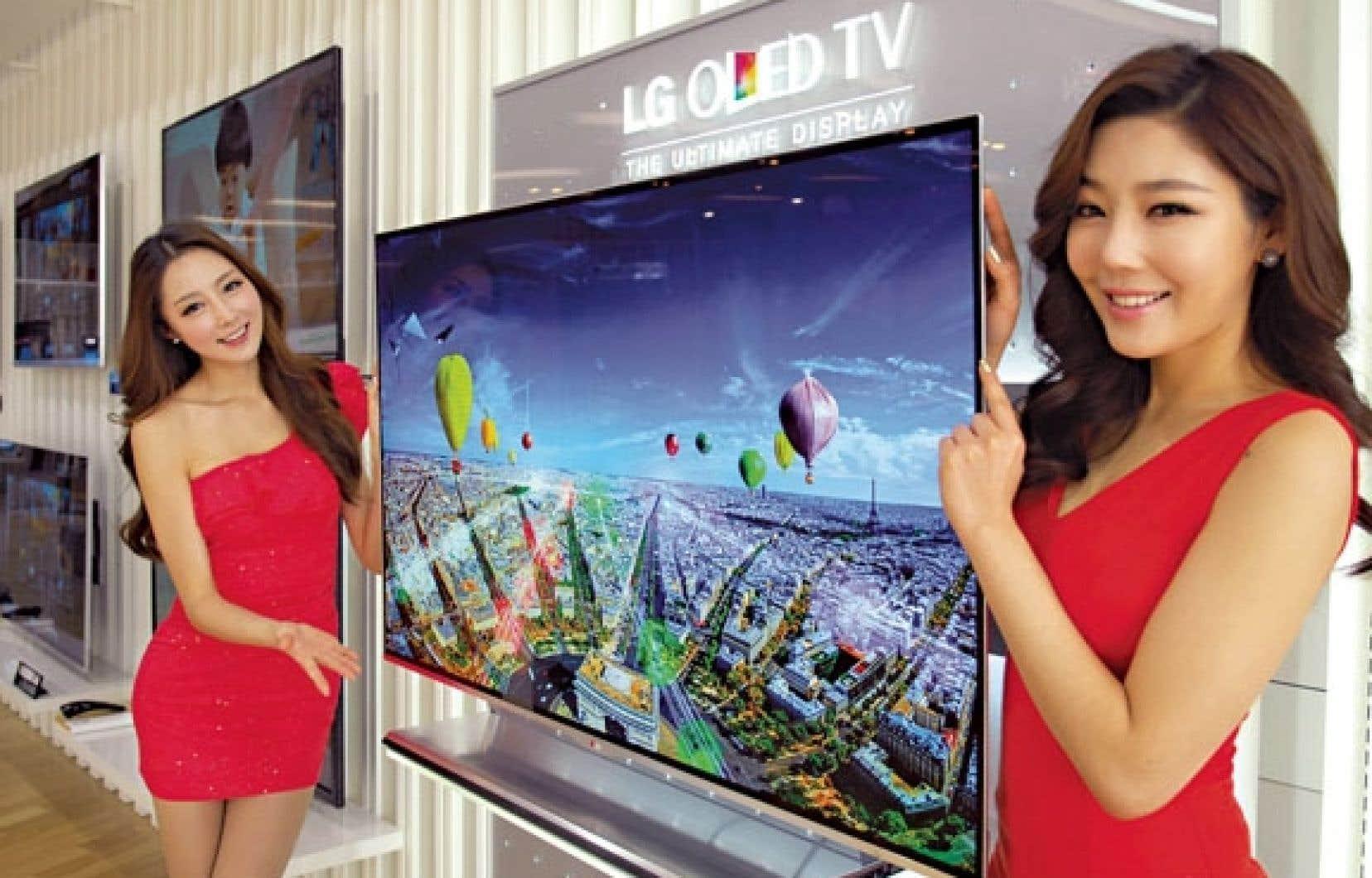L'écran de nouvelle génération du sud-coréen LG, qu'on dit organique électroluminescent.