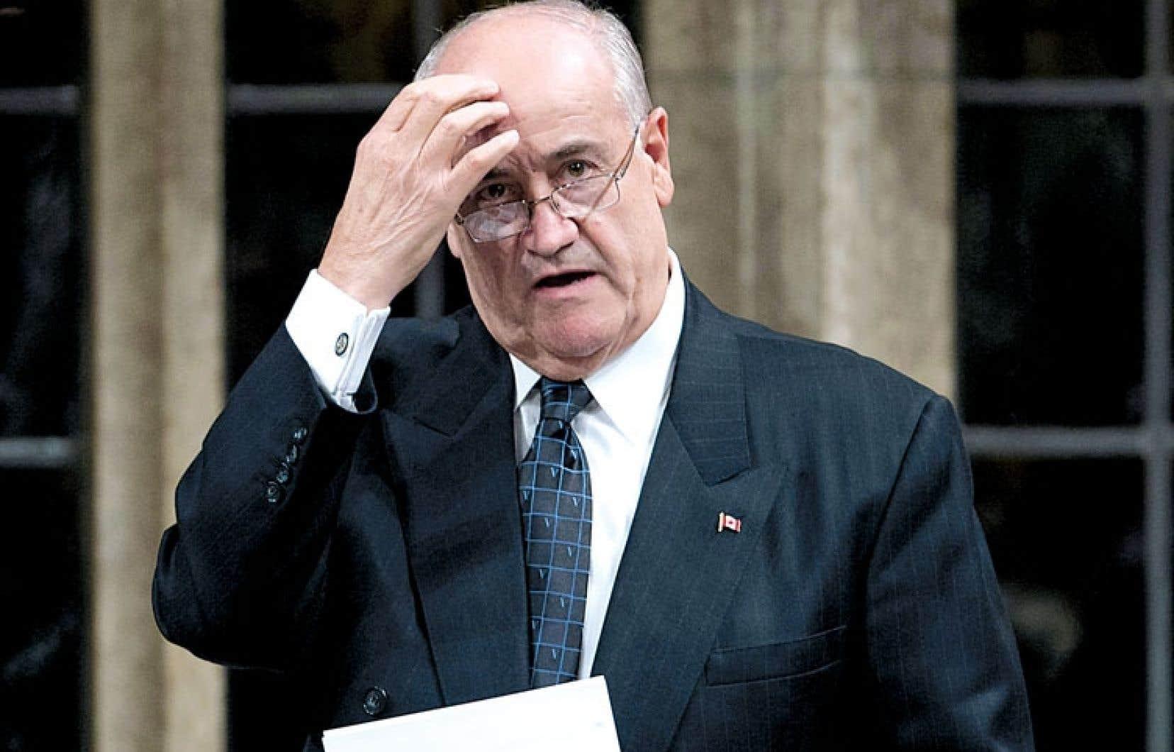 Le ministre Julian Fantino, nommé à la Coopération internationale en juillet 2012, n'a visiblement rien d'un expert en développement.