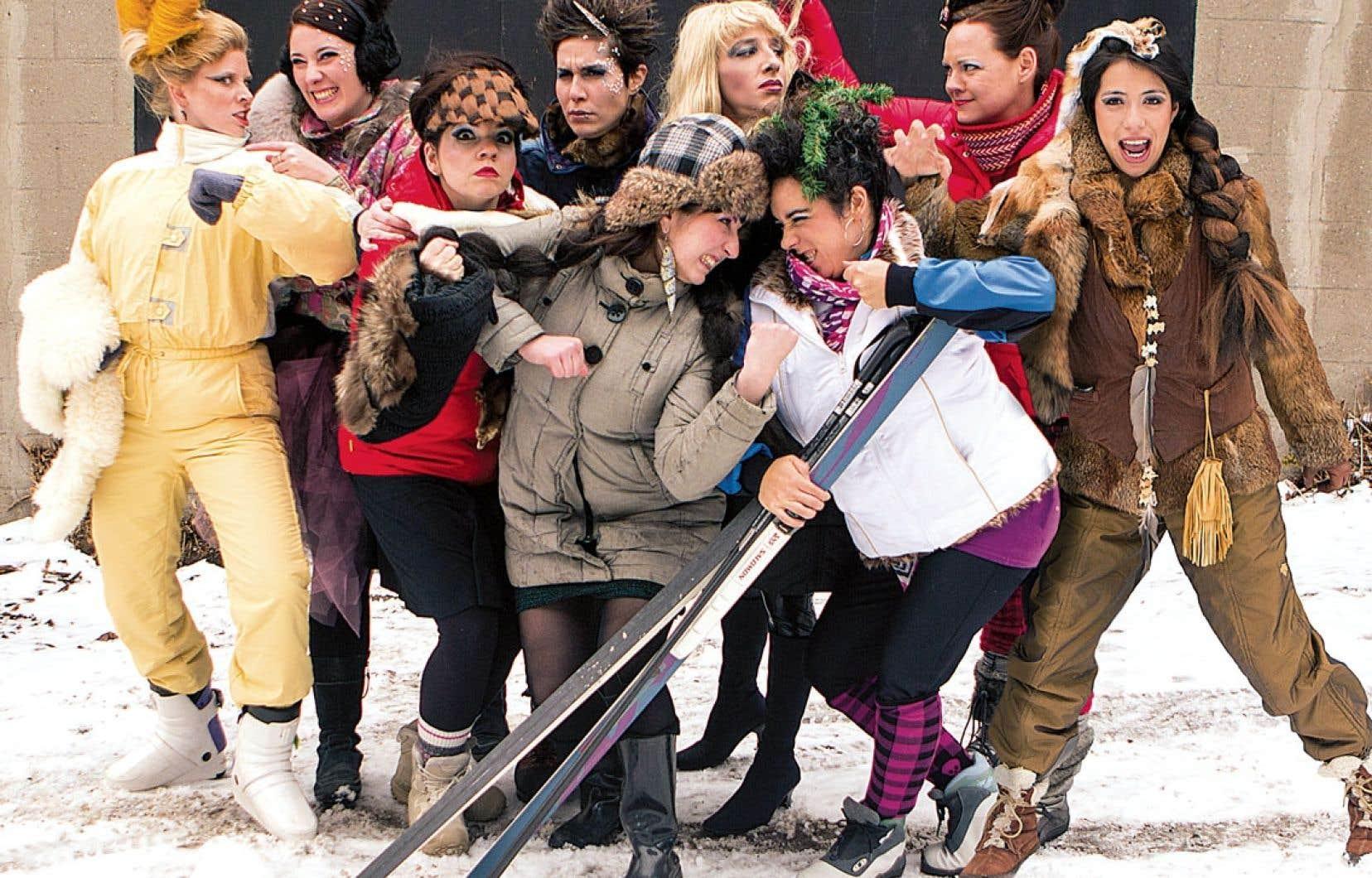 Les neuf concurrentes de la Revengeance des duchesses qui tenteront de se faire couronner reine du OFF Carnaval de Québec.