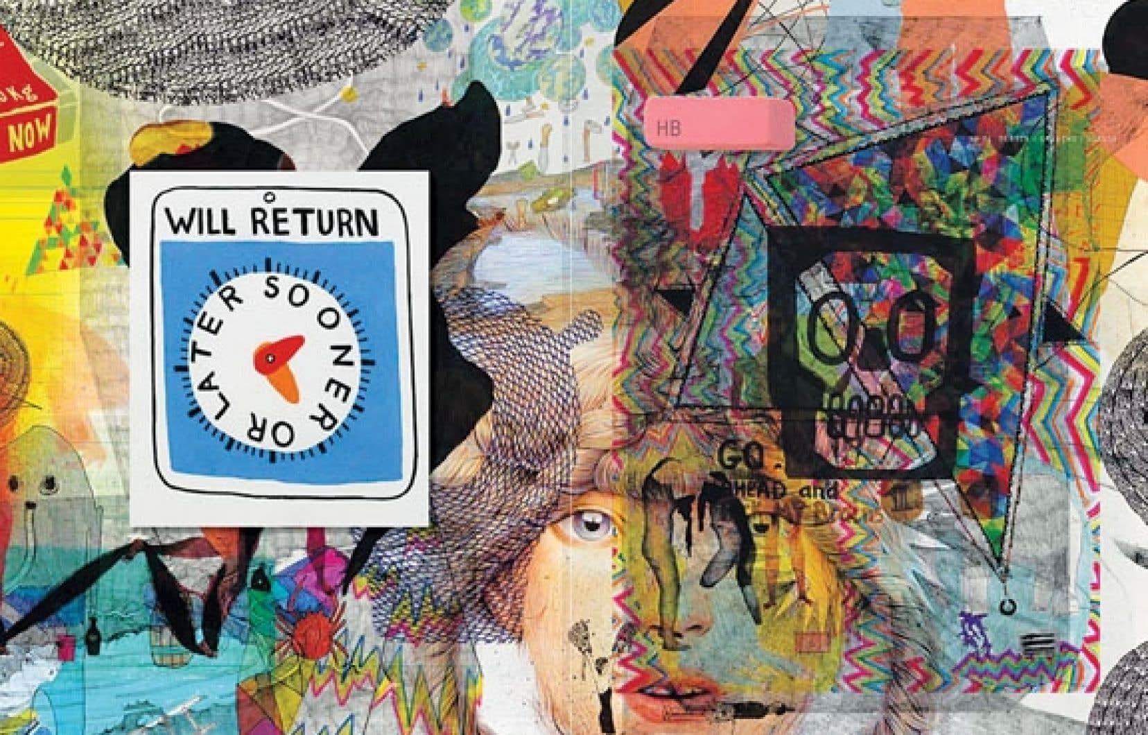 La couverture du premier numéro intrigue par la présentation superposée de tous les dessins de son contenu.