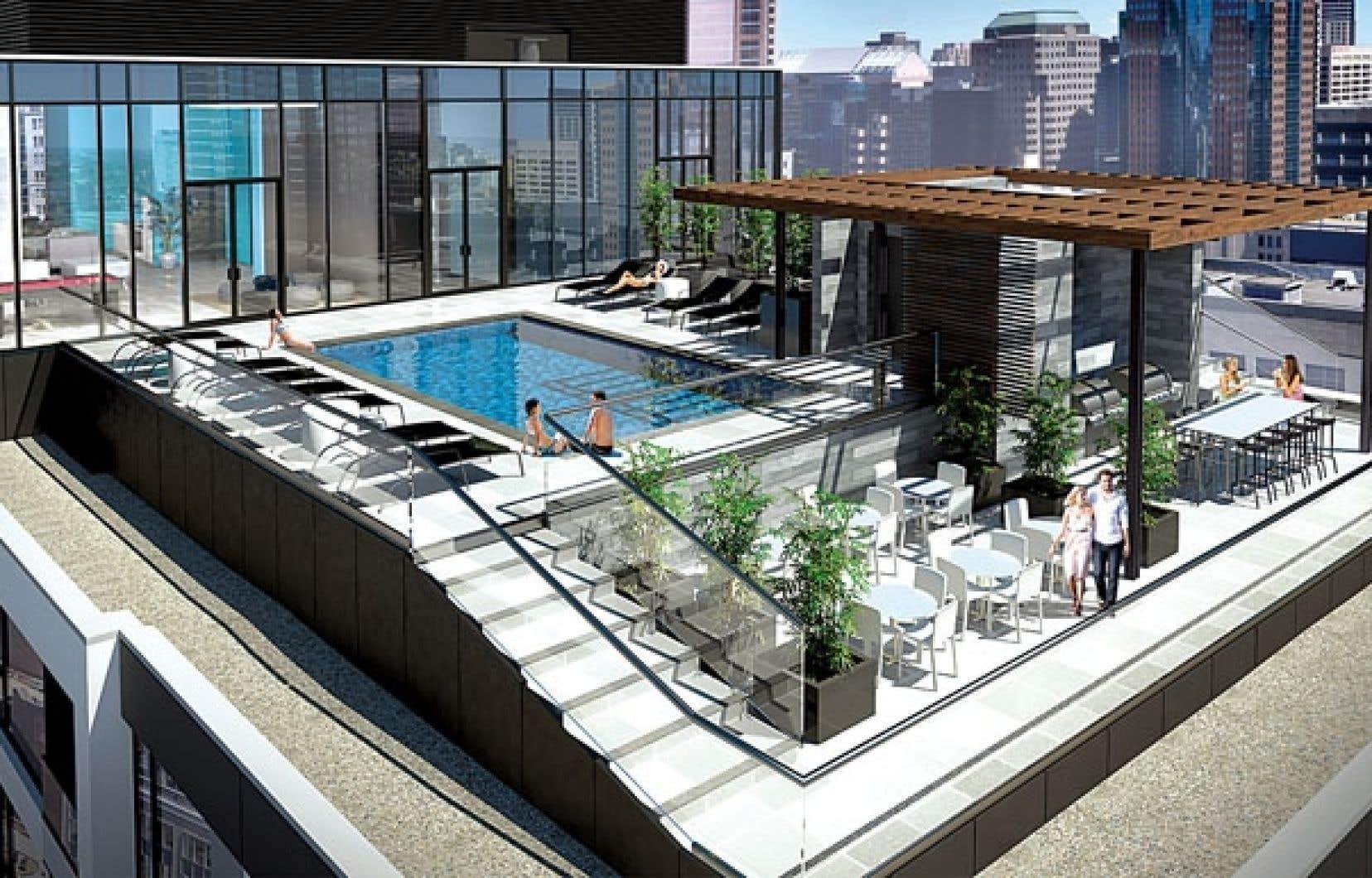 Le Drummond s'élèvera sur près de 80 mètres au-dessus de la ville, visible depuis la terrasse sur le toit.