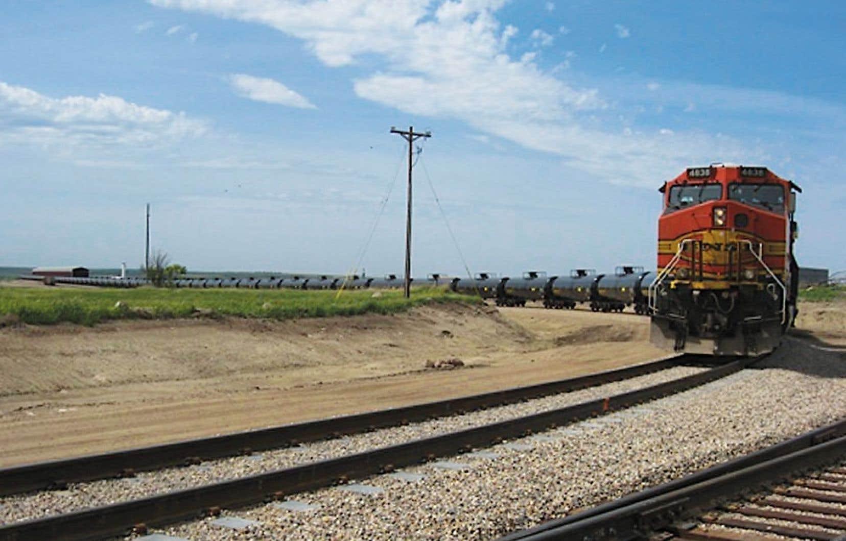 <div> Les compagnies ferroviaires anticipent un développement accéléré du transport de pétrole.</div>