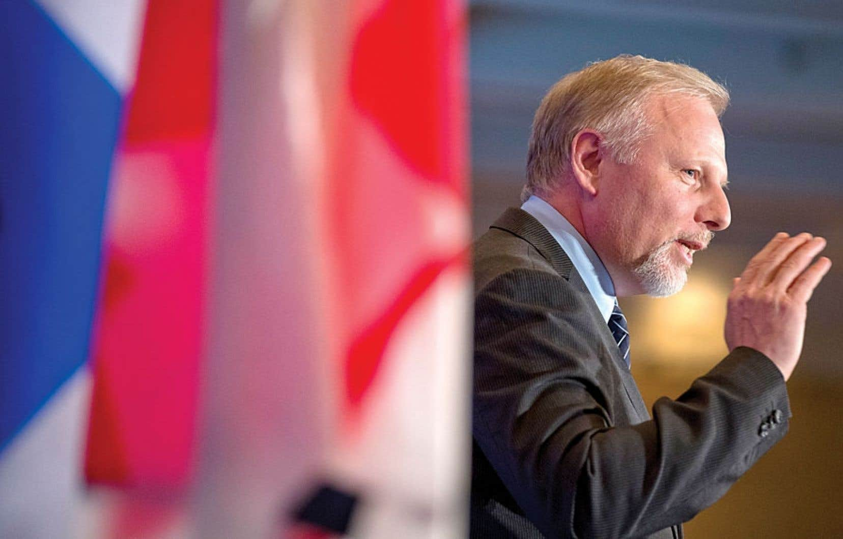 Le ministre Jean-François Lisée s'est exprimé lundi devant 650 personnes, gens d'affaires, universitaires et représentants d'organisations internationales.