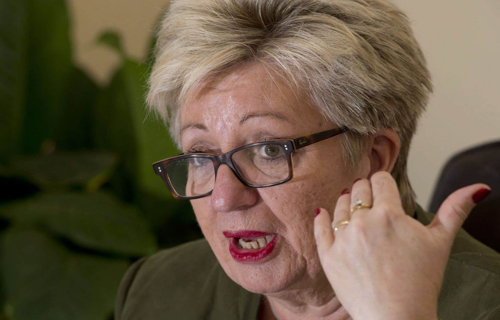 La ministre de l'Immigration et des Communautés culturelles, Diane De Courcy