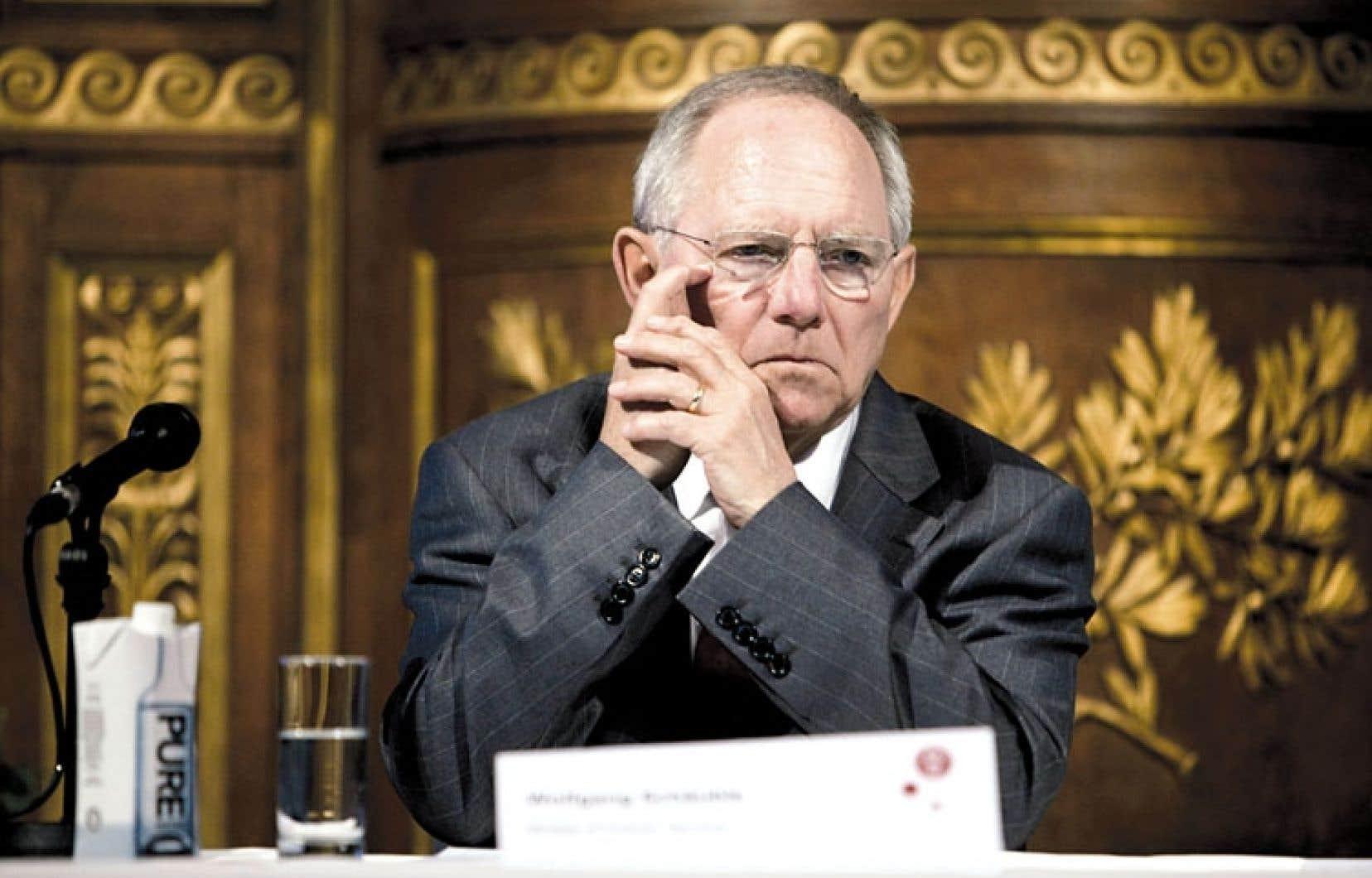 Le ministre allemand des Finances, Wolfgang Schäuble