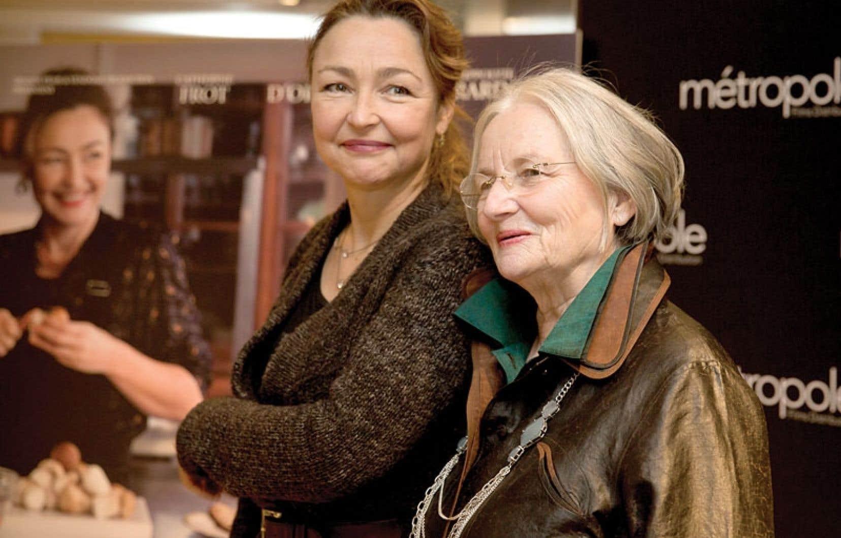 L'actrice française Catherine Frot et la chef Danièle Mazet-Delpeuch accompagnent le film Les saveurs du palais, en salle le 1er mars, présenté en première nord-américaine à Montréal en lumière.