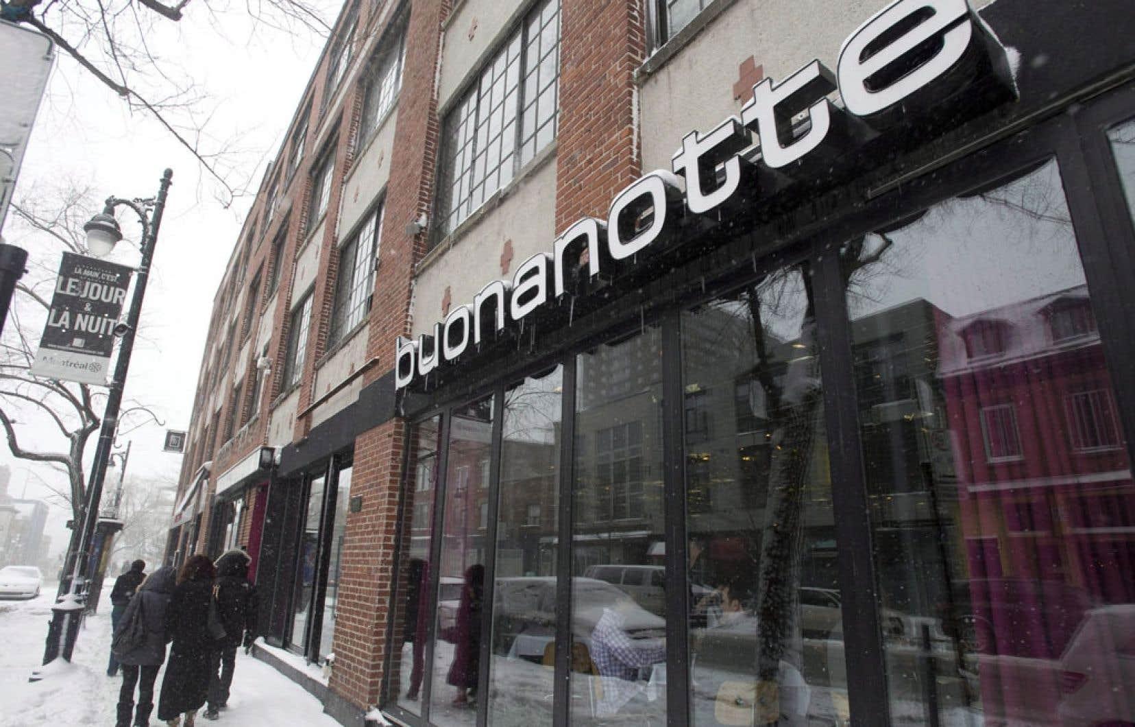 Le restaurant Buonanotte, à Montréal, compte deux menus distincts où tous les plats portent leur nom italien, suivi d'une traduction française ou anglaise, ce que l'OQLF permet. Dans ce que l'organisme a avoué être un « excès de zèle », un inspecteur a toutefois blâmé l'établissement pour ce qui semblait être la prédominance de la langue italienne sur le menu.