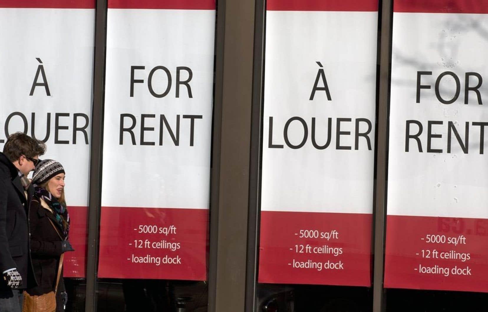 Affichage bilingue à Montréal.