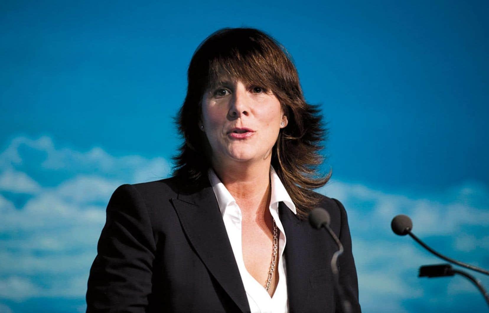 La présidente et chef de la direction de Gaz Métro, Sophie Brochu