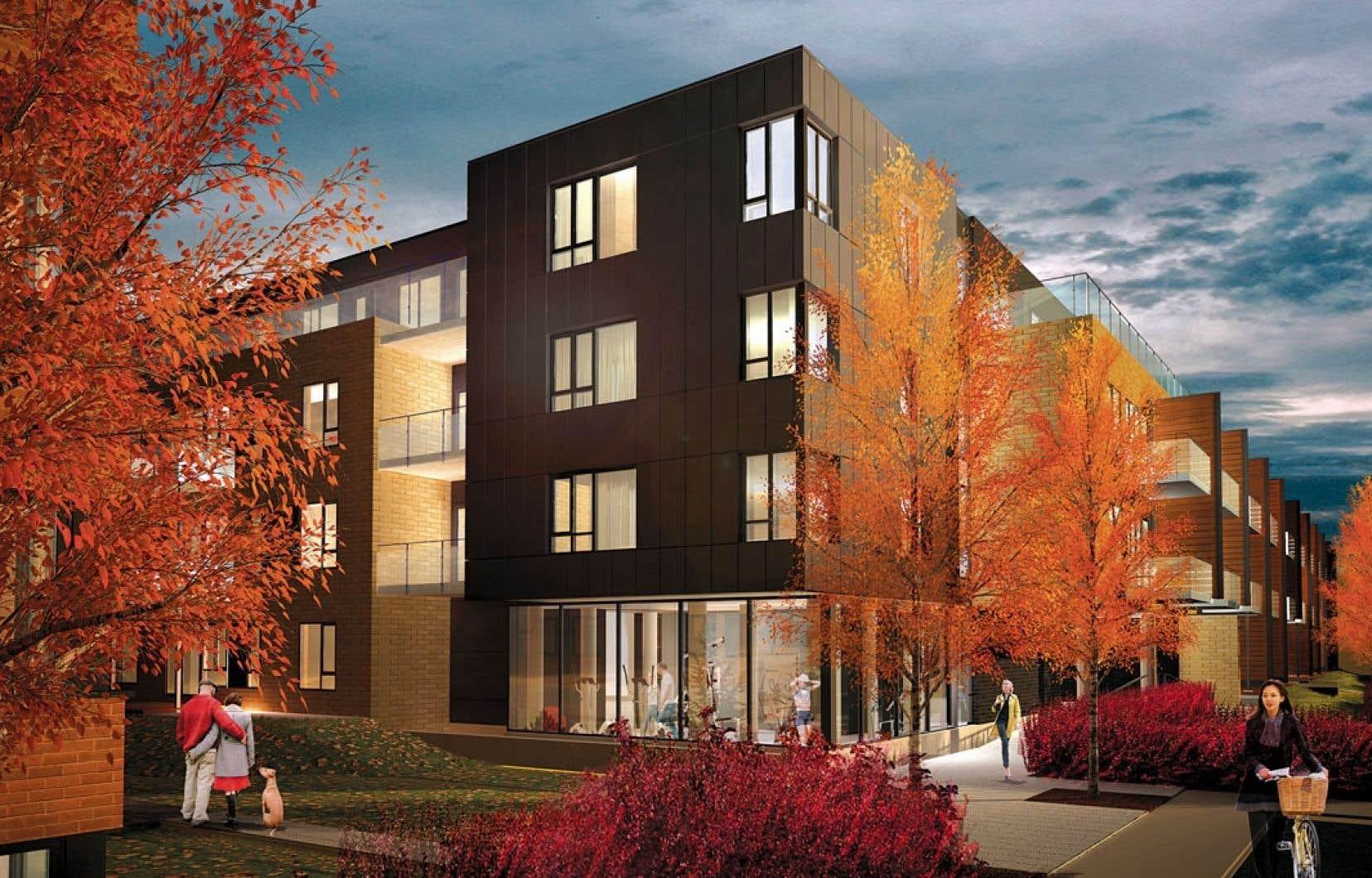 Ayant pour toile de fond la municipalité de Dorval, MV3 s'installe dans un milieu urbain bordé d'espaces verts.