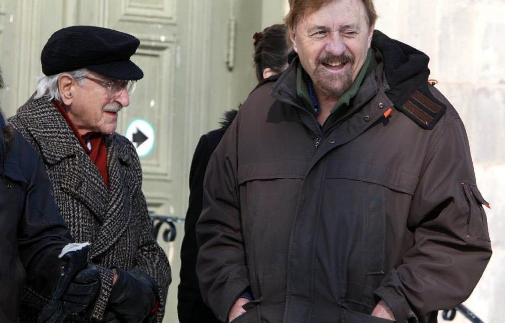 Paul Rose (et Michel Chartrand, &agrave; gauche), en 2008.<br />